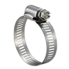 SAE J1508 Perforated W4 SS304 Stainless Steel American Type Worm Gear Hose Clamps